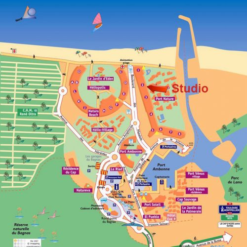 Cap d'Agde Naturist BDSM studio map