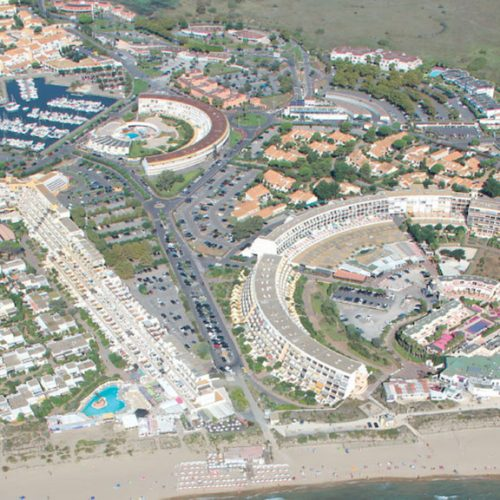 Cap d'Agde Naturist Port Nature Sea View aerial map