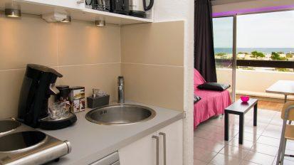 Cap d'Agde Naturist Port Nature Sea View kitchen