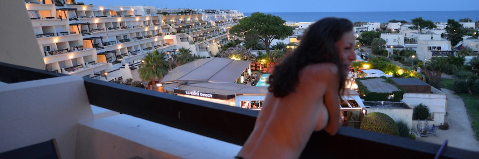 Cap d'Agde Naturist Port Nature Sea View naked balcony